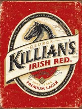 Killian's Irish Red Metal Sign