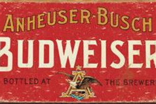 Budweiser Red Label Metal Sign
