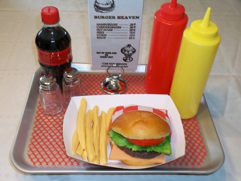 Burger & Fries Food Tray