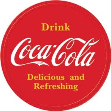 Round Drink Coca Cola Metal Sign