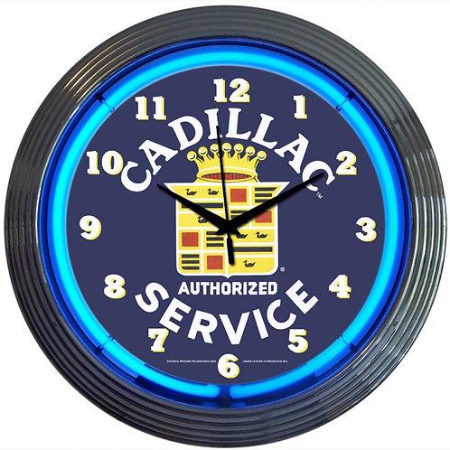 Classic Cadillac Service  Neon Clock