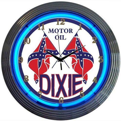 Dixie Gas Neon Clock