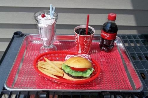 Hamburger & Fries Tray