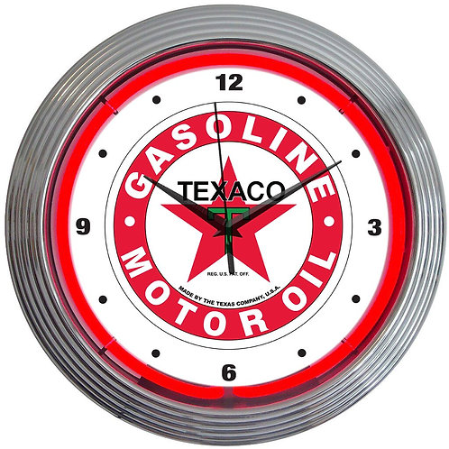 Texaco Neon Clock
