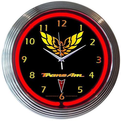 TransAm Neon Clock