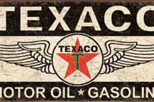 Texaco w/ Wings Metal Sign