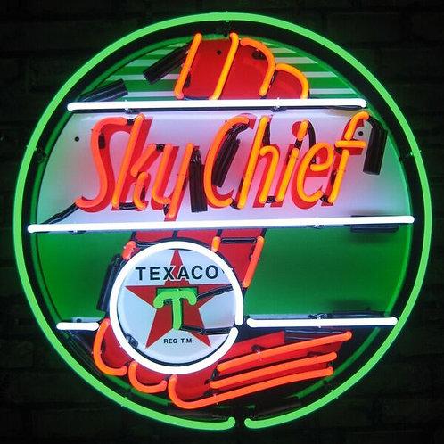 Texaco Sky Chief Gas Neon Sign