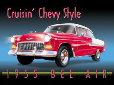 Crusin' Chevy Style Metal Sign