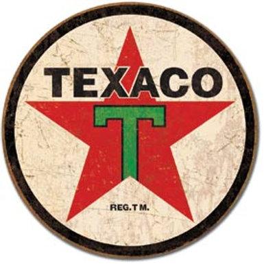Round Texaco Metal Sign