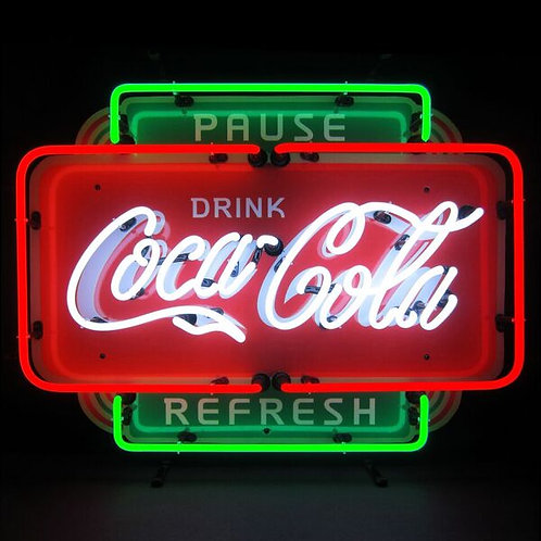 Coke Pause Neon Sign