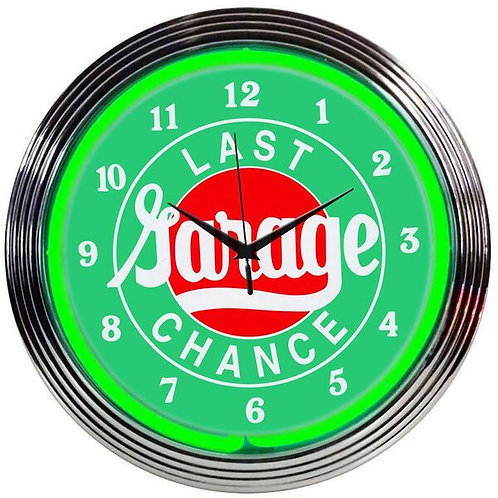 Last Chance Garage  Neon Clock