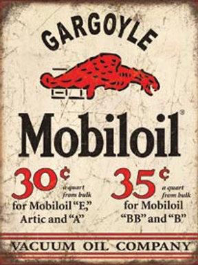 Gargoyle Mobiloil  Metal Sign