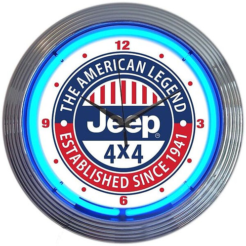 Jeep 4X4  Neon Clock