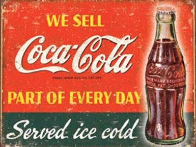 We Sell Coca Cola Metal Sign