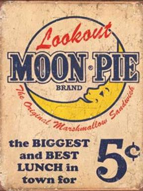 Moon Pie Metal Sign