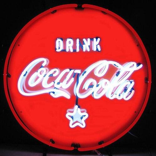 Coke Red & White Neon Sign