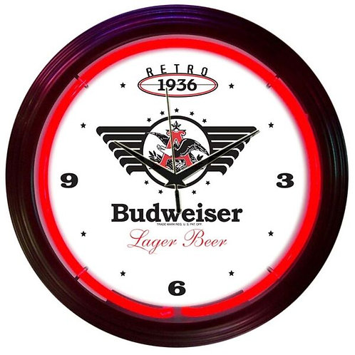 Bud Retro Neon Clock