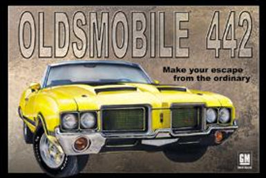 Oldsmobile 442 Metal Sign