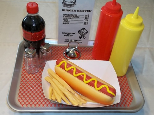 Hot Dog & Fries Food Tray