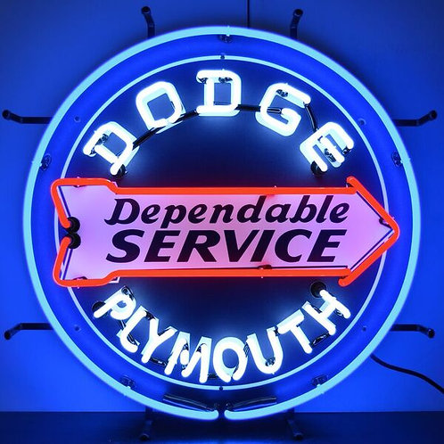 Dodge Plymouth Dependable Svce Neon Sign