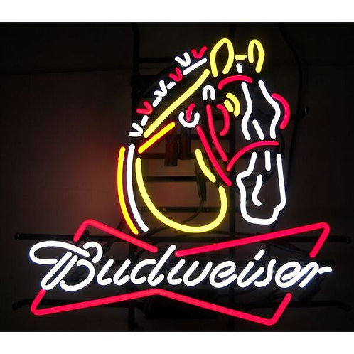 Bud Clydesdale  Neon Sign