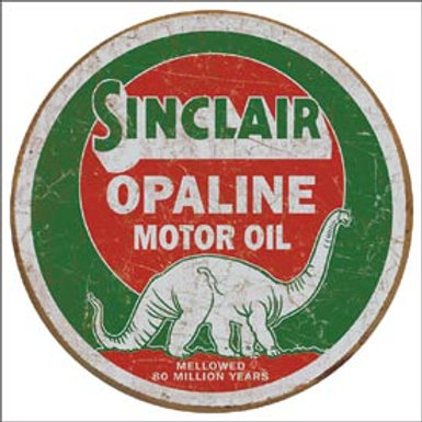 Sinclair Opaline Motor Oil Metal Sign
