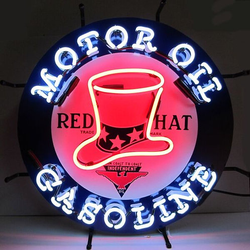 Red Hat Gas Neon Sign
