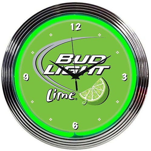 Bud Lime Neon Clock
