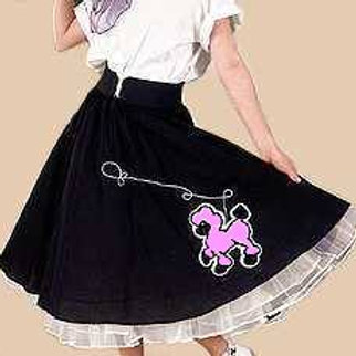 Poodle Skirt - Black or Red