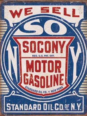 Socony Motor Gasoline Metal Sign