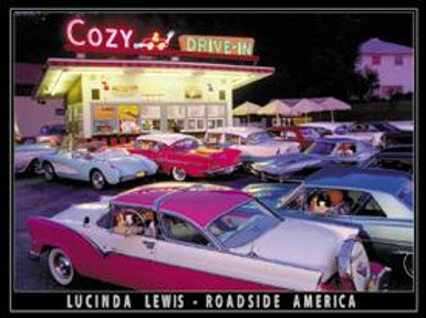 Cozy Drive-In Metal Sign