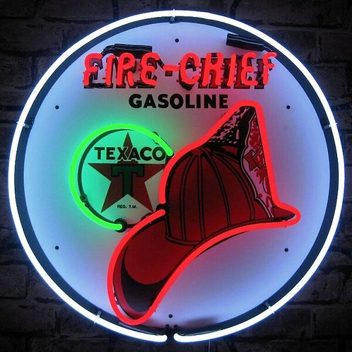 Texaco Fire Chief Gas Neon Sign