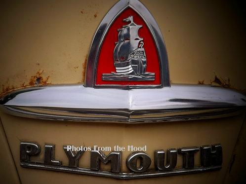 '47 Plymouth Hood Emblem
