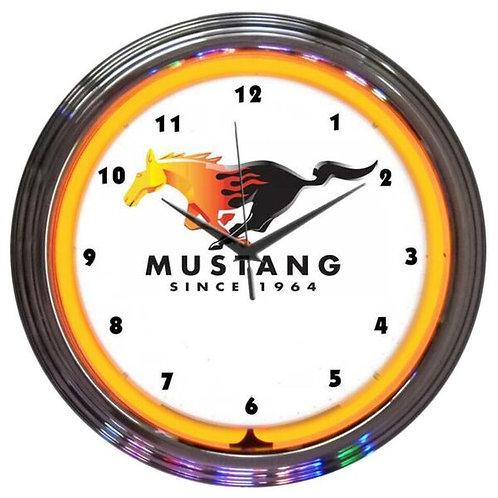 Mustang Since 1964 Neon Clock