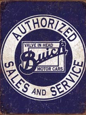 Authorized Buick Sales/Svce. Metal Sign