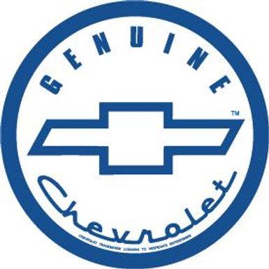 Round Genuine Chevrolet Metal Sign