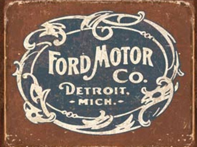 Vintage Ford Motor Co. Metal Sign