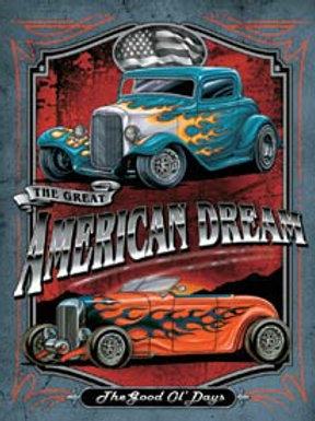 American Dream Street Rods Metal Sign