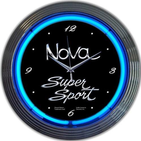 Nova Super Sport Neon Clock