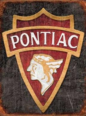 Pontiac Emblem Metal Sign