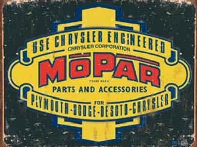 Mopar Parts & Accessories Shield Metal Sign