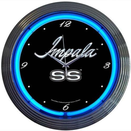 Impala SS Neon Clock