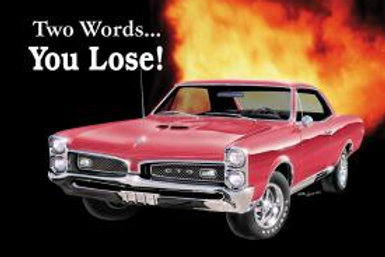 You Lose GTO Metal Sign