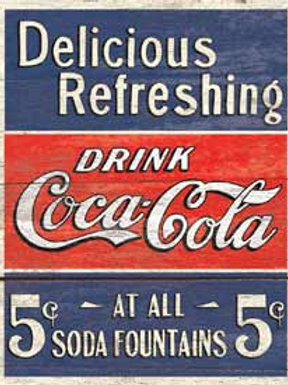 Drink Coke 5 Cents Metal Sign