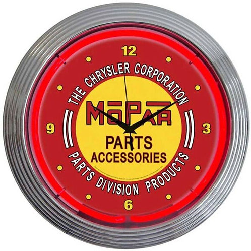 Mopar Parts Neon Clock