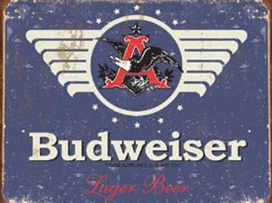 Budweiser Blue Label Metal Sign