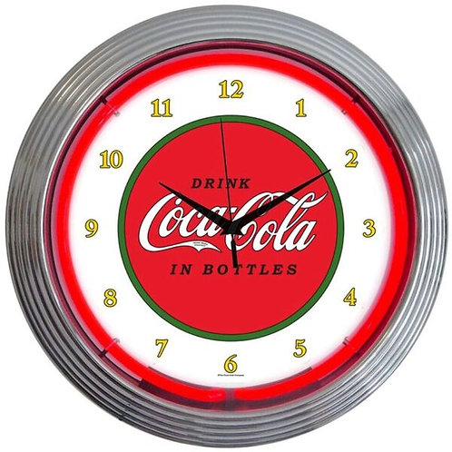 Coke 1910 Red/White Neon Clock