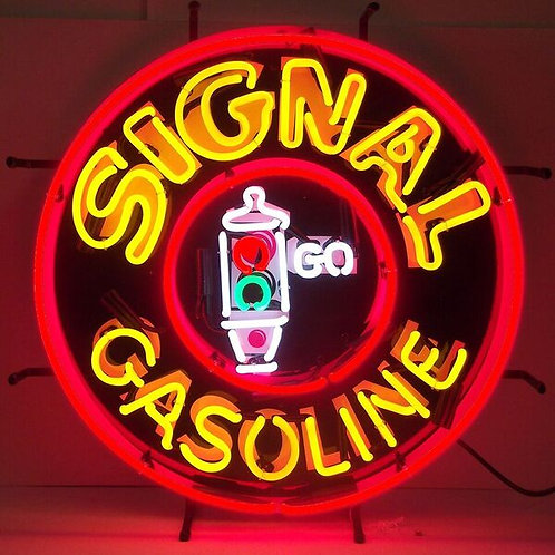 Signal Gas Neon Sign