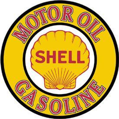 Round Shell Motor Oil/Gasoline Metal Sign