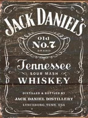 Jack Daniels Sour Mash Metal Sign